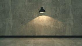 Very dark and dim concrete room stock video footage