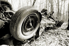 Very Dead Car- Upside down Stock Photography