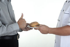 Very delicious Hamburger Stock Photography