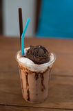 Very delicious ice chocolate drink recipe Stock Photos