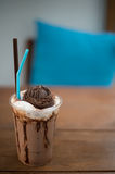 Very delicious ice chocolate drink recipe Royalty Free Stock Images