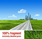 Very detailed 7000px city on horizon royalty free stock image