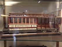 Very detailed, scale model of a previous San Francisco Cable Car, 2. royalty free stock photo