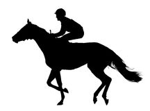 Very detailed vector of a jockey and horse Stock Photo