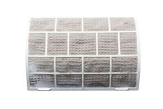 Very dirty air conditioner filter Stock Photos