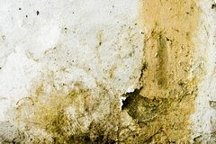 Very dirty and decomposed wall. Abstract painting and background texture of decay and decadence. stock image