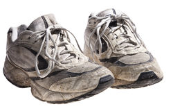 Very dirty and old sport shoes Stock Image