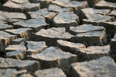 The very dry cracked earth gray Royalty Free Stock Photography