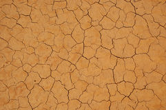 Very Dry Cracked Soil. Flat background stock photography