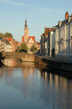 Very Early Morning In Bruges Stock Photos