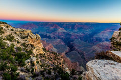 Very Early Morning Before Sunrise at the Grand Canyon in Arizona Royalty Free Stock Photos
