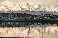 Very early morning in Ushuaia, Tierra del Fuego, Patagonia Royalty Free Stock Image
