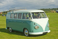 Very early VW sleeping van. stock photography