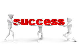 It is very easy to success. Guy holds success in their hands Royalty Free Stock Images