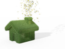 Very ecological house vector illustration