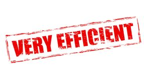 Very efficient. Stamp with text very efficient inside,  illustration Royalty Free Stock Photography