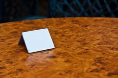 Placeholder for table reservations in retro style Royalty Free Stock Photos