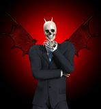 Very Evil Businessman Royalty Free Stock Images