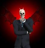 Very Evil Businessman. A very evil looking devil skeleton businessmen Royalty Free Stock Images