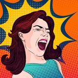 Scream and shout Royalty Free Stock Photography