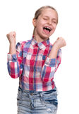 Very excited little girl Royalty Free Stock Photos
