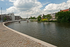 Op Buuren Buiten, The Netherlands. Very expensive houses and canal in Op Buuren Buiten, The Netherlands Stock Photography
