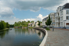 Op Buuren Buiten, The Netherlands. Very expensive houses and canal in Op Buuren Buiten, The Netherlands stock image