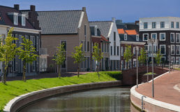 Op Buuren Buiten, The Netherlands. Very expensive houses and canal in Op Buuren Buiten, The Netherlands Stock Photo