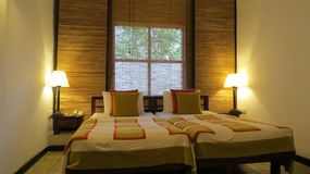 Hotel Room in Sri Lanka royalty free stock photography