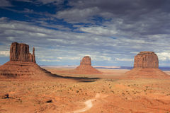 The Very Famous and Unique Buttes of Monument Valley in Utah sta Stock Photos