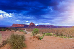 The very Famous and Well-Known Amazing Monument Valley Scene in Stock Images