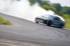 Very fast driving, blur drift Royalty Free Stock Photos
