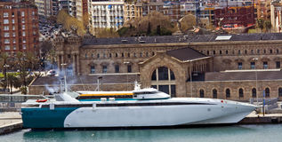 mediterranean very fast and luxurious ferry royalty free stock photography