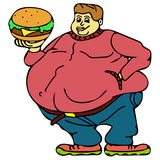 Very fat people Stock Image