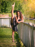 Very flexible Latin dancer Royalty Free Stock Images