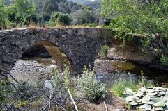 Very former bridge in stones. Royalty Free Stock Image