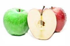 Very fresh apples Stock Photos