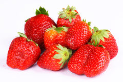 Very fresh strawberry. In whit background stock photography