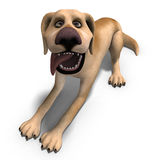 Very funny cartoon dog is a little bit nuts Stock Images
