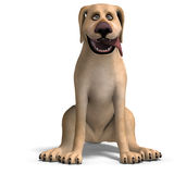 Very funny cartoon dog is a little bit nuts Royalty Free Stock Image