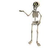 Very funny cartoon skeleton Stock Photos