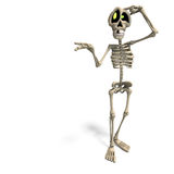 Very funny cartoon skeleton royalty free stock image