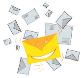 Very funny letter Stock Photo