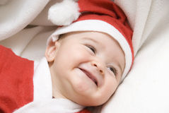 A very funny Santa Claus. Royalty Free Stock Photography