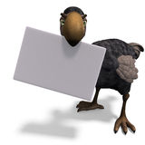 Very funny toon Dodo-bird. 3D rendering with clipping path and shadow over white Royalty Free Stock Image
