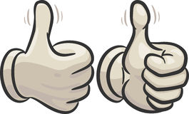 Very good. Left and right hand with raised thumbs up, showing a sign of a very very good Royalty Free Stock Image
