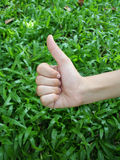 Very good!. Children's hand royalty free stock images