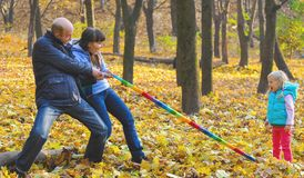 Very Good family outdoors. Very Good Little family outdoors Stock Images