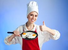 Very good frying egg Stock Photography