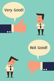 Very good and not good royalty free illustration